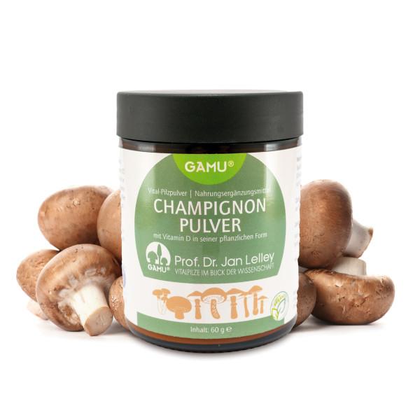 Champignon Pulver mit Vitamin D in seiner pflanzlichen Form